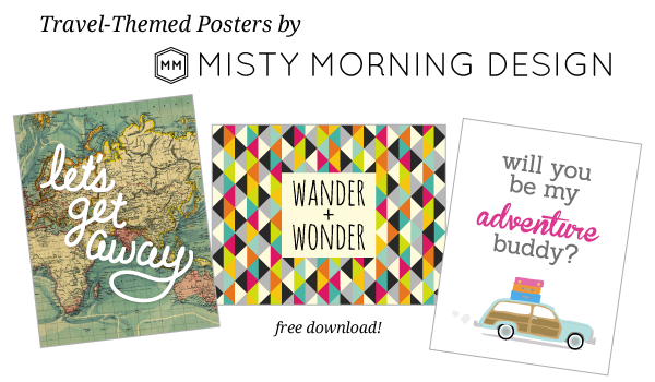 Free Travel Posters by Misty Morning Design