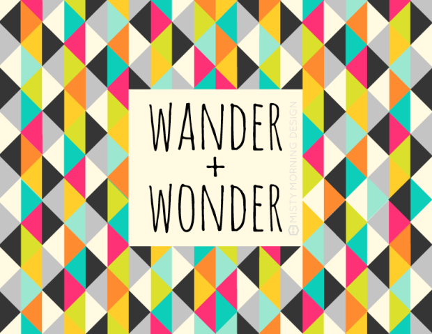 Wander + Wonder // Free Travel Poster by Misty Morning Design